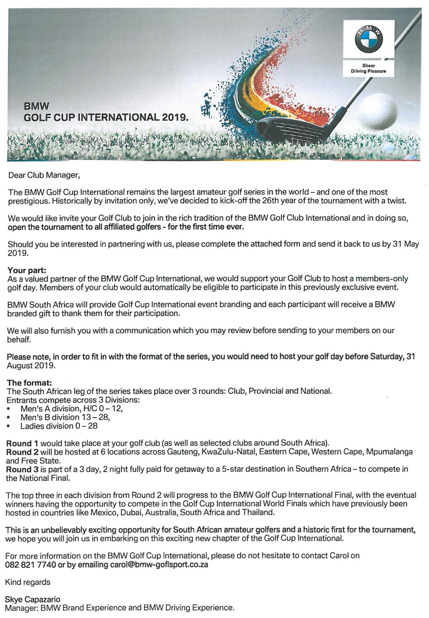 Oubaai Golf Club   Latest News